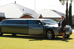 Chrysler 300c wedding limo, perth